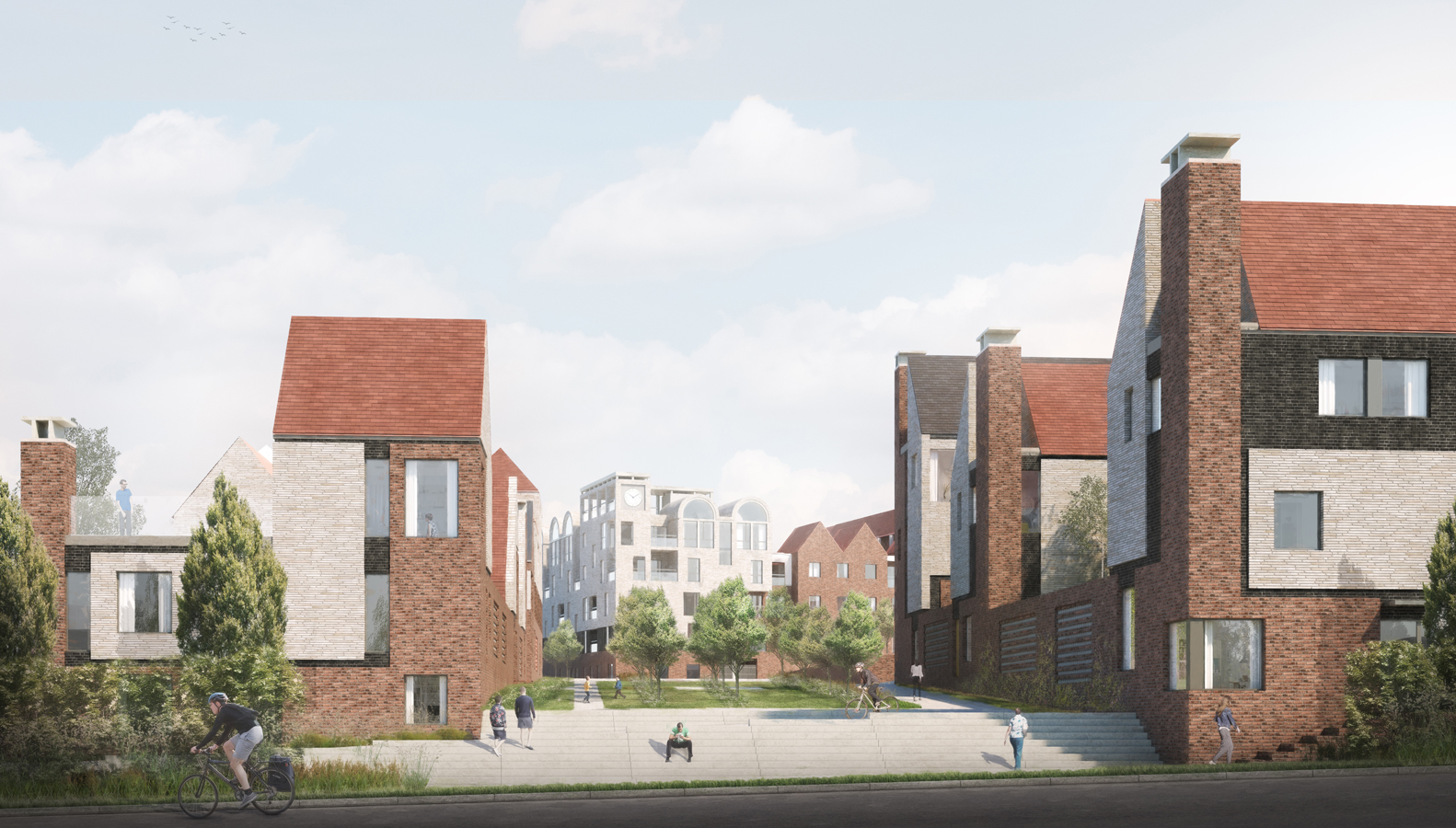 Planning consent for Proctor and Matthews Architects' Canterbury garden city homes