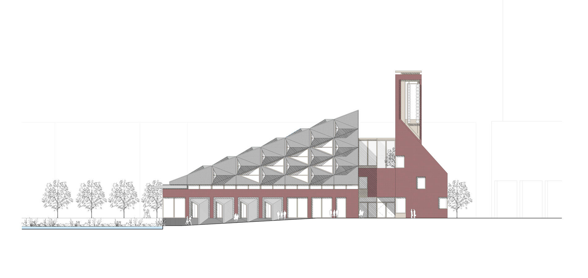 Elevation of the proposed new Southmere Village Library